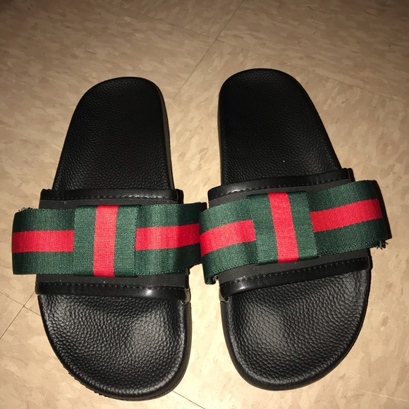 4e48b3913378 Gucci Shoes - Gucci Satin Slide with Web Bow